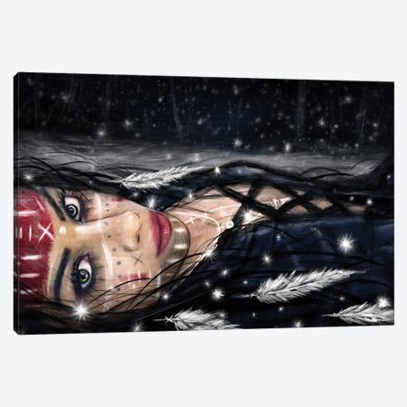 Midnight Snowfall Canvas Print #JSG15} by Justin Gedak Canvas Artwork