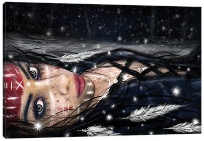 Midnight Snowfall Canvas Art Print