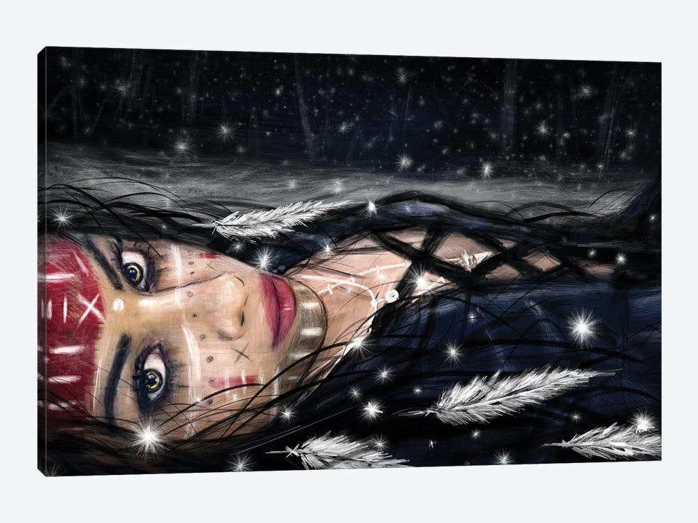 Midnight Snowfall by Justin Gedak 1-piece Canvas Wall Art
