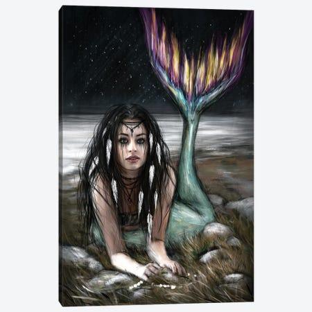Starlight Mermaid Canvas Print #JSG24} by Justin Gedak Canvas Print