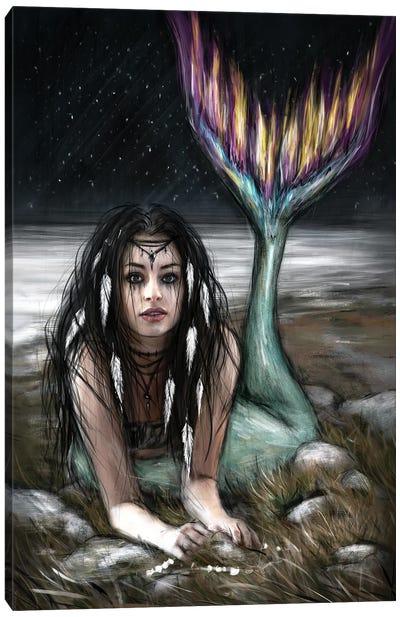 Starlight Mermaid Canvas Art Print