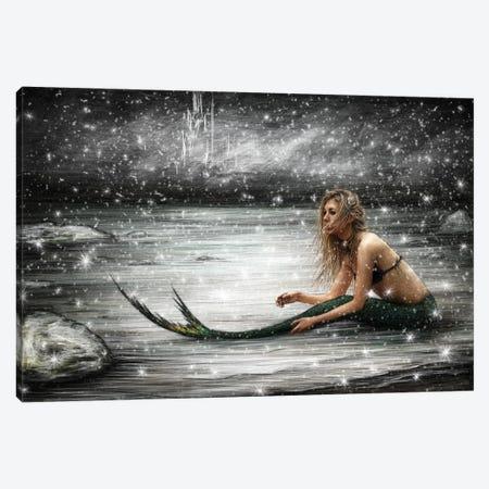 Winter Mermaid 3-Piece Canvas #JSG30} by Justin Gedak Art Print