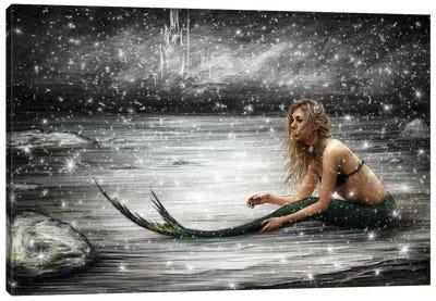 Winter Mermaid Canvas Art Print