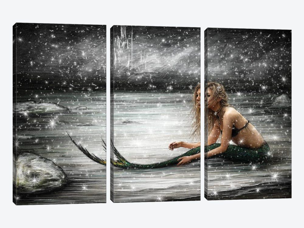 Winter Mermaid by Justin Gedak 3-piece Canvas Art Print