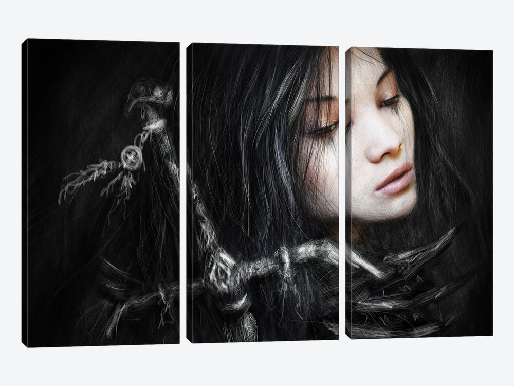Glancing Back by Justin Gedak 3-piece Canvas Print