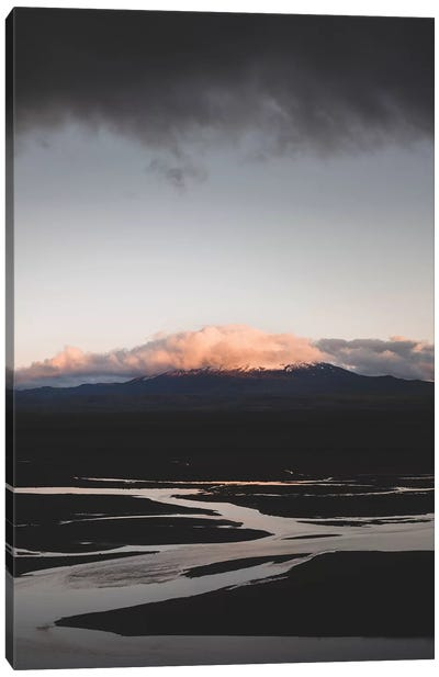 Hekla By Sunset Canvas Art Print