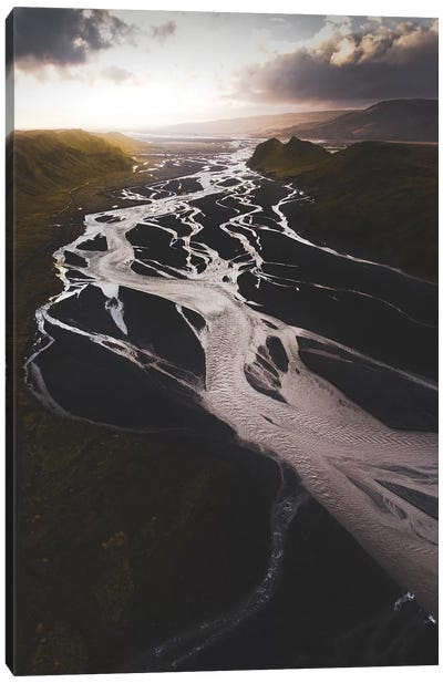 Rivers Of The Valley Canvas Art Print