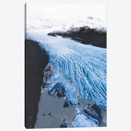 The Blue River Of Ice Canvas Print #JSH33} by Joe Shutter Canvas Wall Art