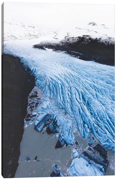 The Blue River Of Ice Canvas Art Print
