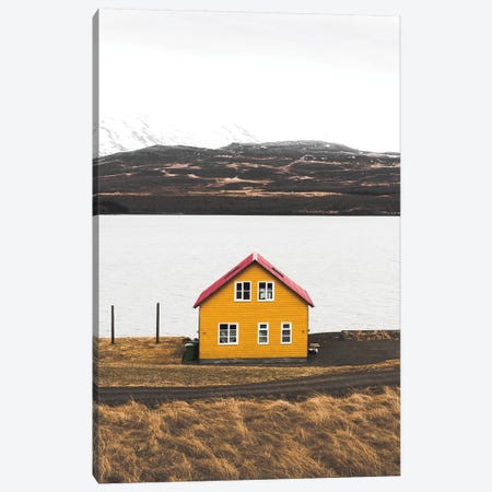 The Yellow House Canvas Print #JSH39} by Joe Shutter Canvas Artwork