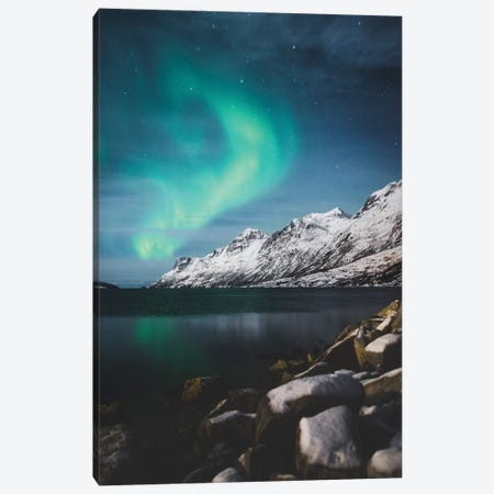 Winter Aurora Canvas Print #JSH49} by Joe Shutter Canvas Print