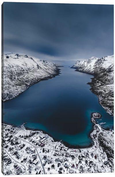 Winter Fjord Canvas Art Print