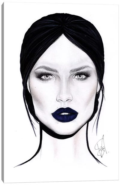 Lips Spell Canvas Art Print