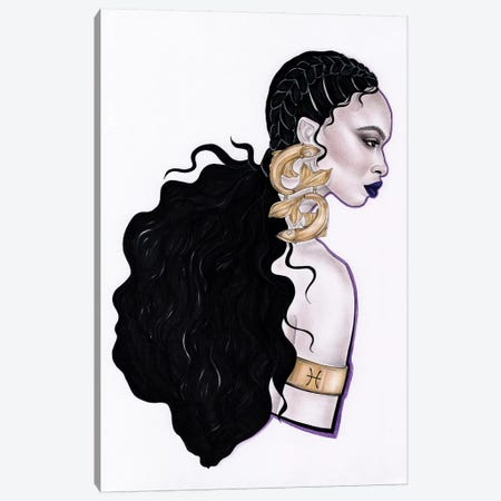 Pisces Canvas Print #JSJ19} by Jéssica João Canvas Artwork