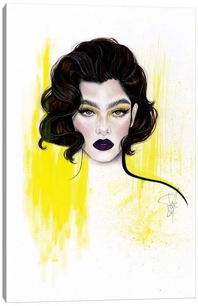 Purple Yellow Canvas Art Print