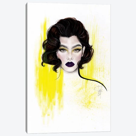 Purple Yellow Canvas Print #JSJ21} by Jéssica João Canvas Art Print