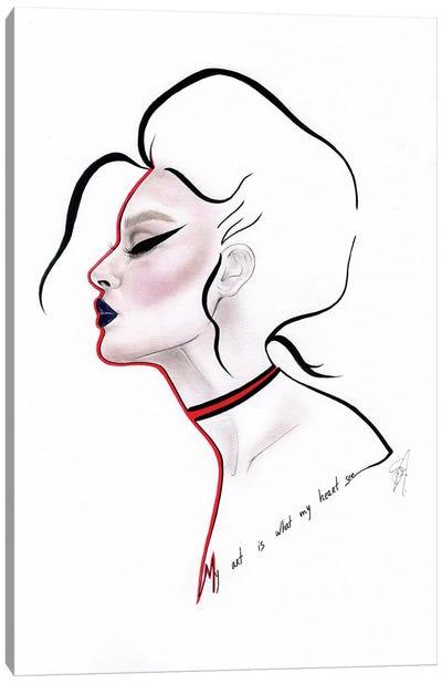 Red Heart Canvas Art Print