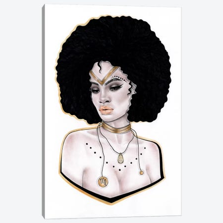 Virgo Canvas Print #JSJ24} by Jéssica João Canvas Artwork