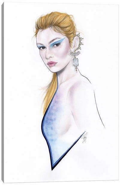 Blue Diamonds Canvas Art Print