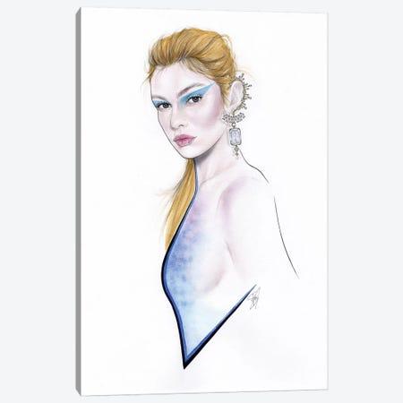 Blue Diamonds Canvas Print #JSJ4} by Jéssica João Art Print