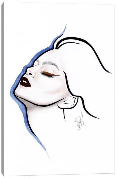Blue Line Canvas Art Print
