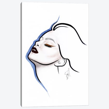 Blue Line Canvas Print #JSJ5} by Jéssica João Canvas Print