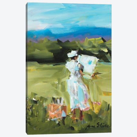 Lady Painting Canvas Print #JSL101} by Jane Slivka Canvas Wall Art