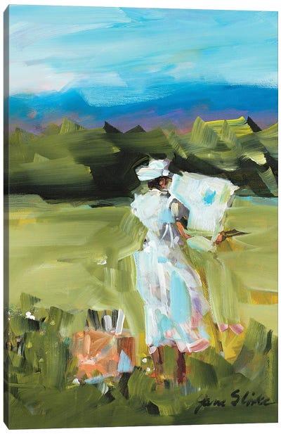 Lady Painting Canvas Art Print
