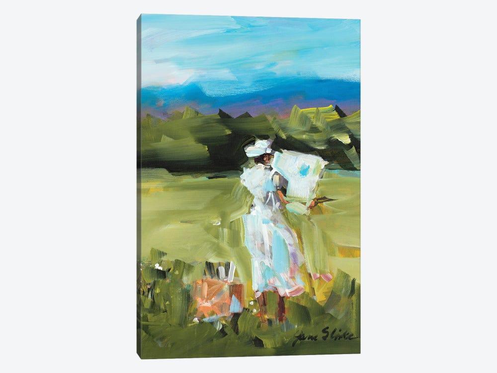 Lady Painting by Jane Slivka 1-piece Canvas Art Print