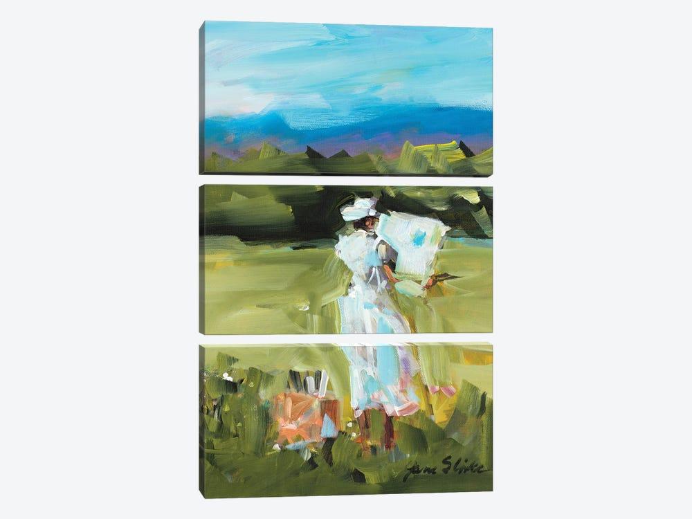 Lady Painting by Jane Slivka 3-piece Art Print