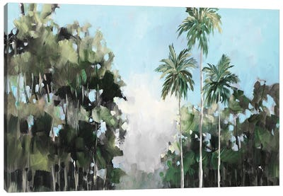 Palms on the Coast Canvas Art Print