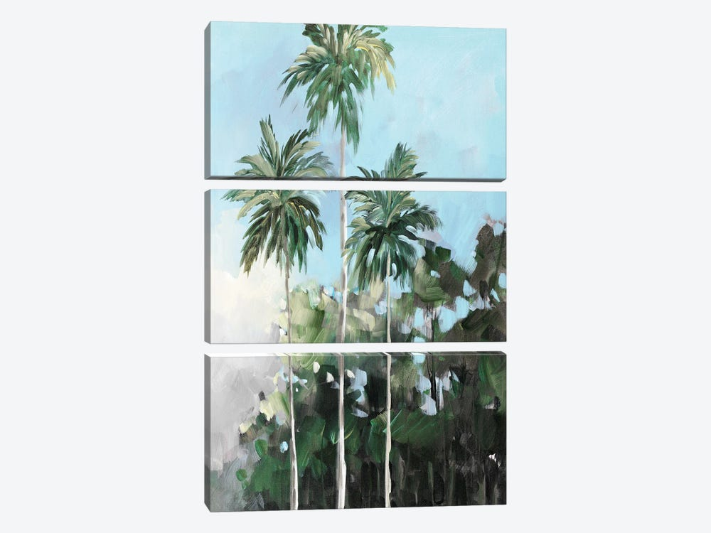Palms on the Coast by Jane Slivka 3-piece Canvas Art Print