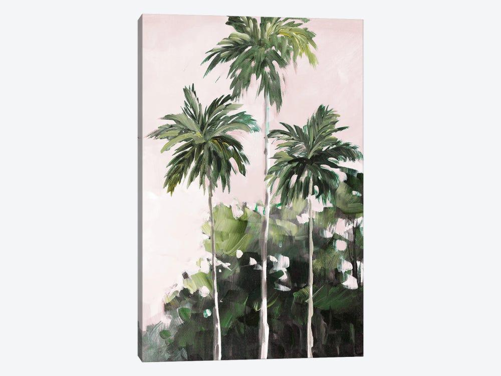 Palms Under A Pink Sky by Jane Slivka 1-piece Canvas Art