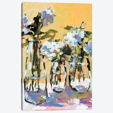 Three Flower Vases Canvas Print #JSL110} by Jane Slivka Canvas Art Print