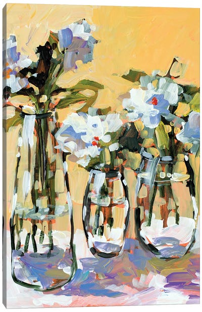 Three Flower Vases Canvas Art Print