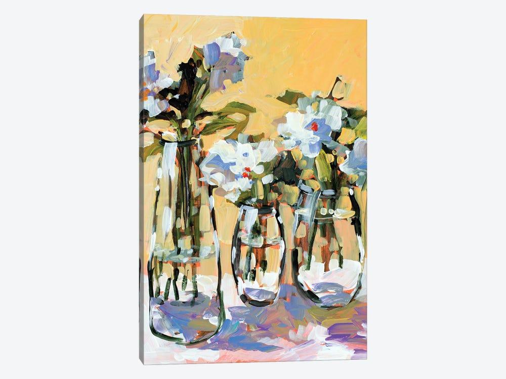 Three Flower Vases by Jane Slivka 1-piece Canvas Art Print