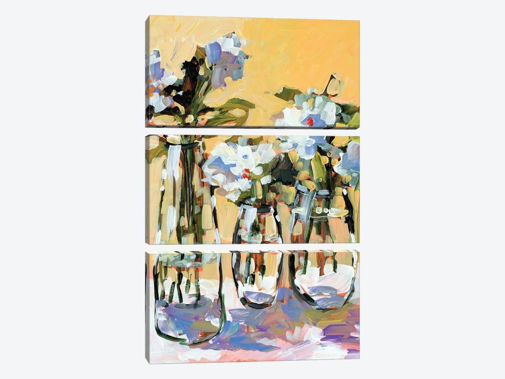 Three Flower Vases by Jane Slivka 3-piece Art Print