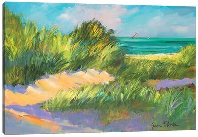Blue Grass Breeze II Canvas Art Print