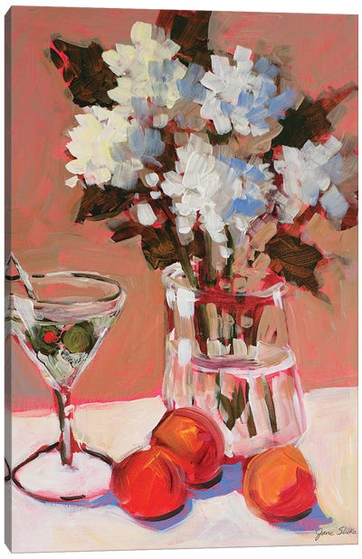 Flowers and Martini Canvas Art Print