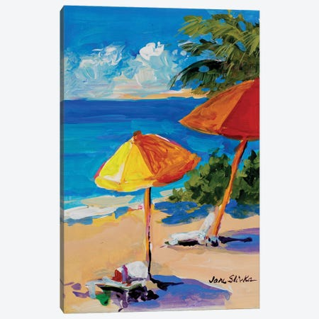 Caribbean Coast Canvas Print #JSL13} by Jane Slivka Canvas Artwork