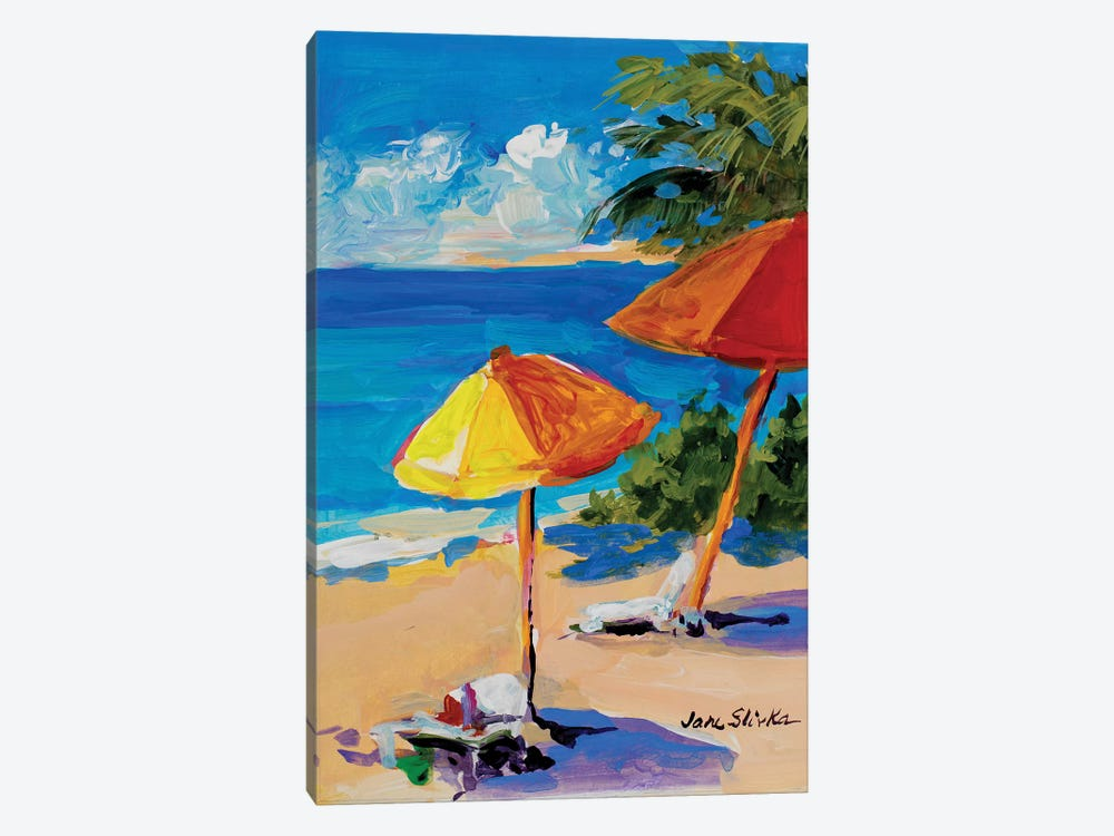 Caribbean Coast by Jane Slivka 1-piece Canvas Art Print