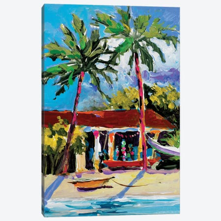 Caribbean Shore Canvas Print #JSL16} by Jane Slivka Art Print