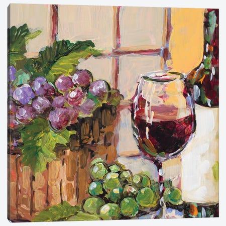 Classic Wine Still Life Canvas Print #JSL18} by Jane Slivka Canvas Wall Art