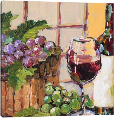 Classic Wine Still Life Canvas Art Print