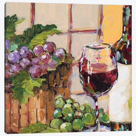 Classic Wine Still Life Canvas Print #JSL18} by Jane Slivka Canvas Wall Art