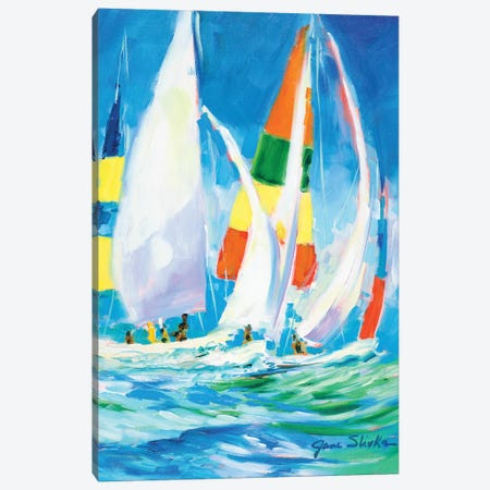 Come Sail Away Canvas Print #JSL19} by Jane Slivka Canvas Art