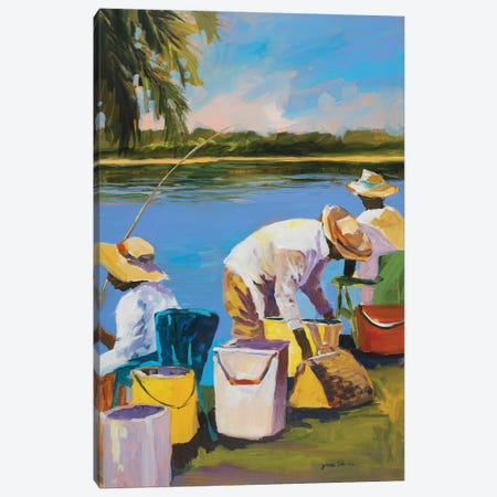 Fishing I Canvas Print #JSL22} by Jane Slivka Art Print