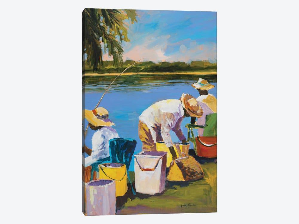 Fishing I by Jane Slivka 1-piece Art Print