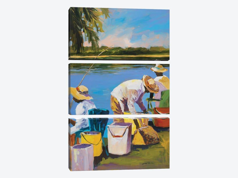 Fishing I by Jane Slivka 3-piece Art Print