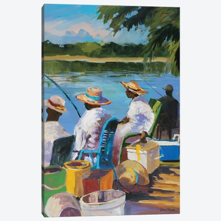 Fishing II 3-Piece Canvas #JSL23} by Jane Slivka Canvas Print